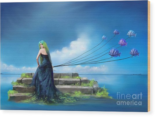Sirens Lure Wood Print