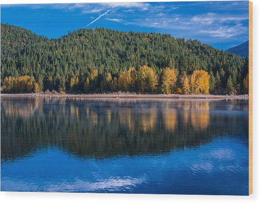 Siskiyou Lake Shoreline Wood Print