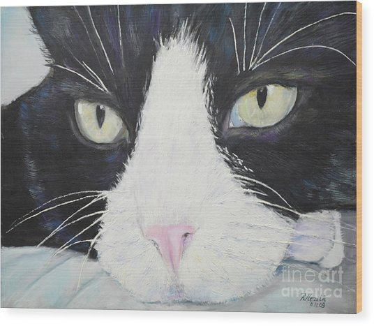 Sissi The Cat 2 Wood Print