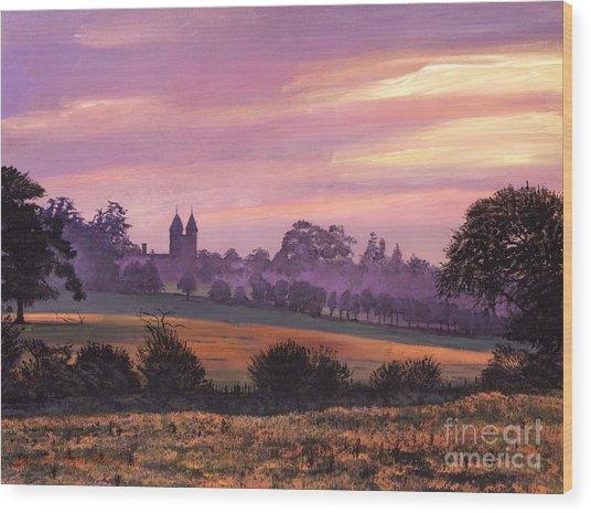 Sissinghurst Castle Sunset Wood Print by David Lloyd Glover