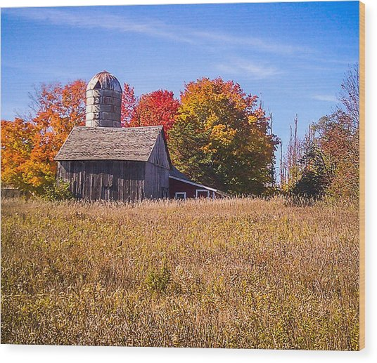 Sister Bay Barn Wood Print