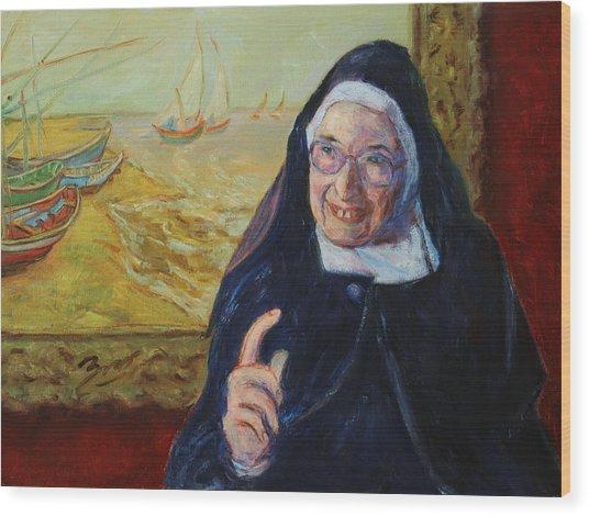 Sister Wendy Wood Print