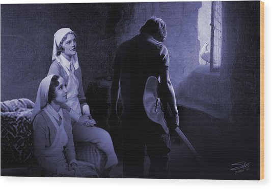 Sisters Of Mercy Wood Print by IM Spadecaller
