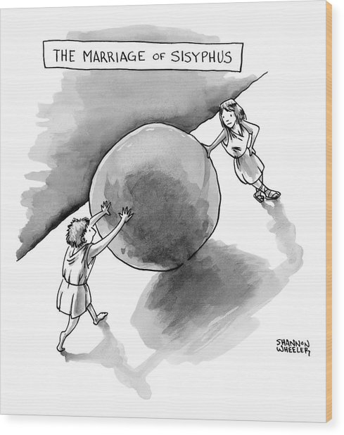 The Marriage Of Sisyphus Wood Print