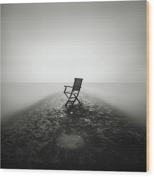Sit Down And Relax Wood Print by Christophe Staelens