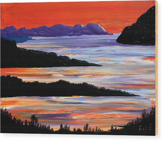 Sitting Seaside Wood Print