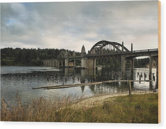 Siuslaw River Bridge Wood Print