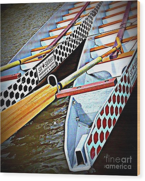 Six Sixteen Dragon Boat Wood Print