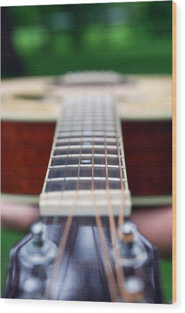 Six String Music Wood Print