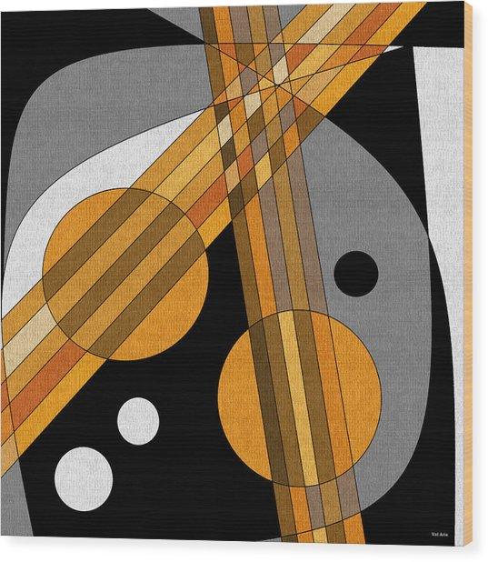 Six Strings Wood Print
