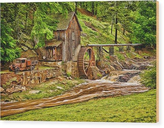 Sixes Mill Wood Print
