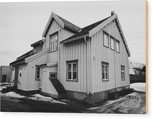 skansen former customs station and oldest house in Tromso troms Norway  europe