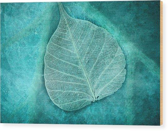 Skeletal Leaf Wood Print