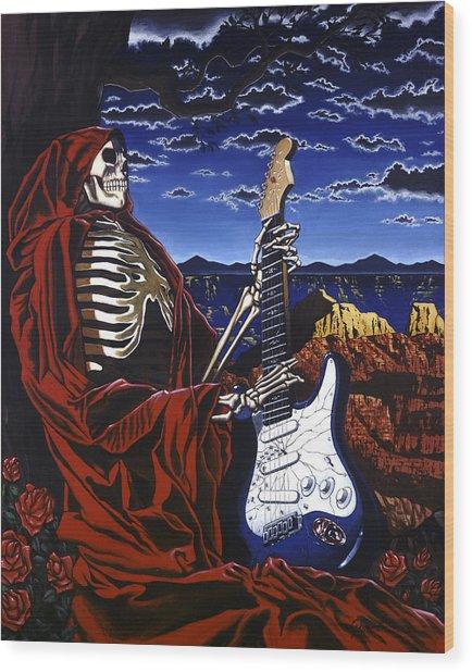 Skeleton Dream Wood Print
