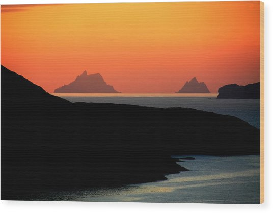 Skellig Islands  Wood Print