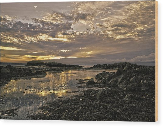 Skerries Sunset Wood Print