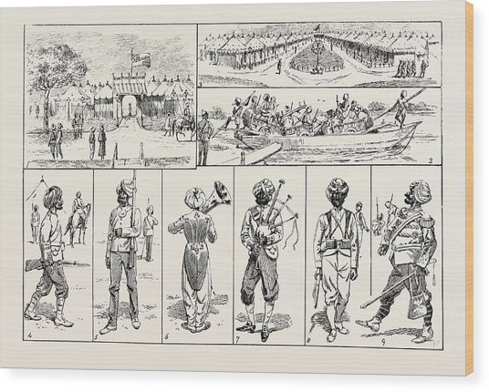 Sketches At The Rawul Pindi Durbar, 1885. 1. Entrance Wood Print