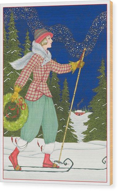 Ski Vogue Wood Print