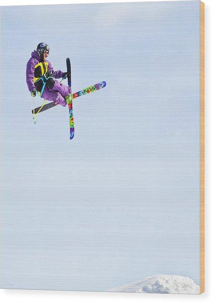 Ski X Wood Print