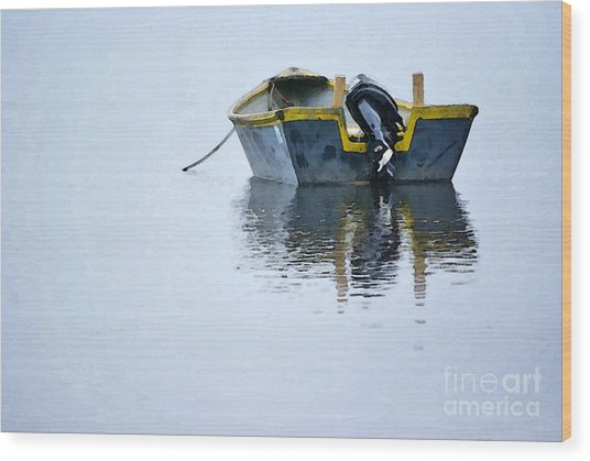 Skiff At Lost Creek Wood Print