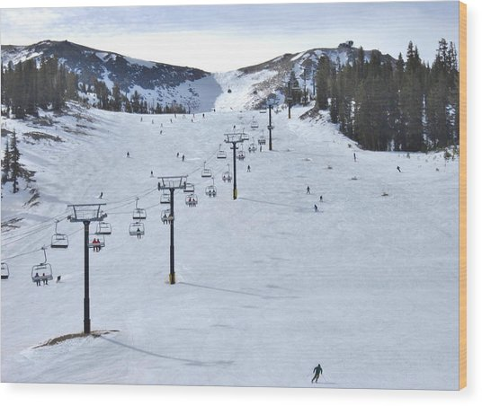Skiing Mammoth Wood Print