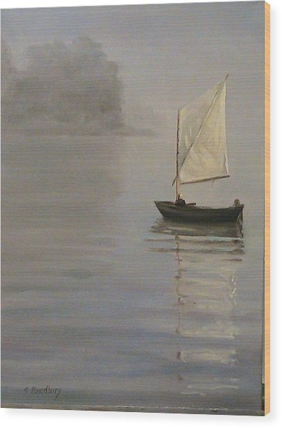 Skipjack On The Chesapeake Wood Print