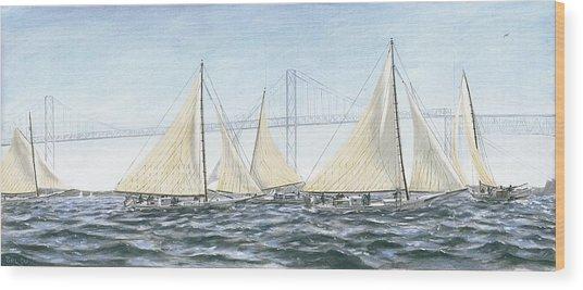 Skipjacks Racing Chesapeake Bay Maryland Wood Print