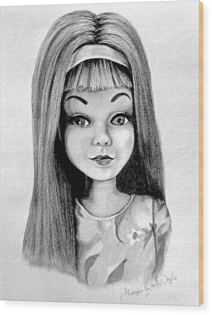 Skipper Barbie Wood Print