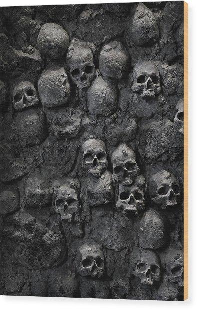 Skulls Wood Print by Bruno Ehrs