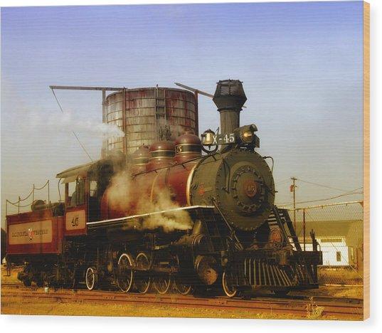 Skunk Train Wood Print