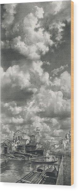 Sky Above San Trovaso Wood Print