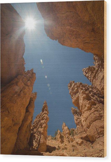 Sky Cave Wood Print