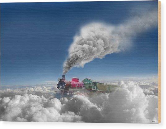 Sky Express Wood Print by Igor Zenin