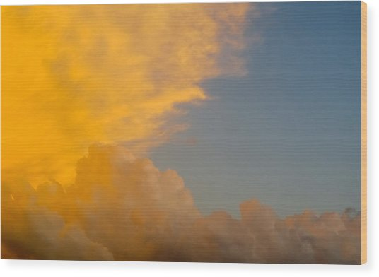 Sky Fire 002 Wood Print by Tony Grider