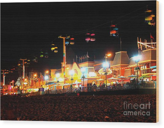 Sky Glider @ Night Wood Print
