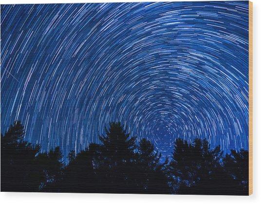 Sky In Motion Wood Print