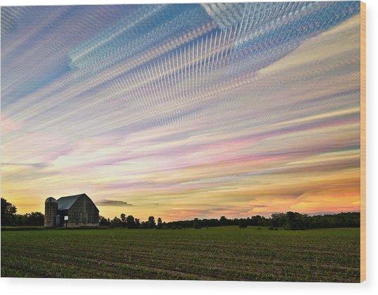 Sky Matrix Wood Print by Matt Molloy