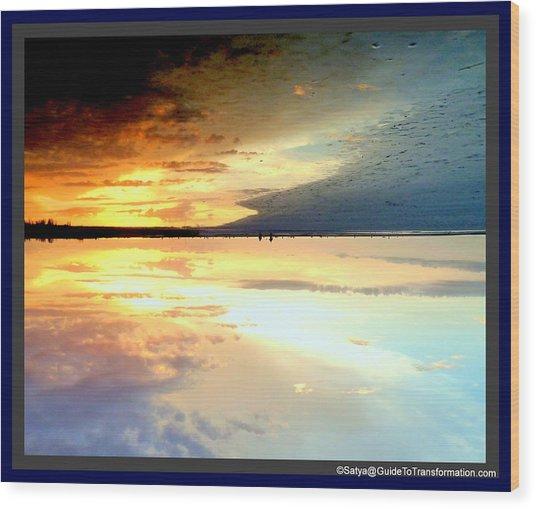 Sky Meets Water Wood Print by Satya Winkelman