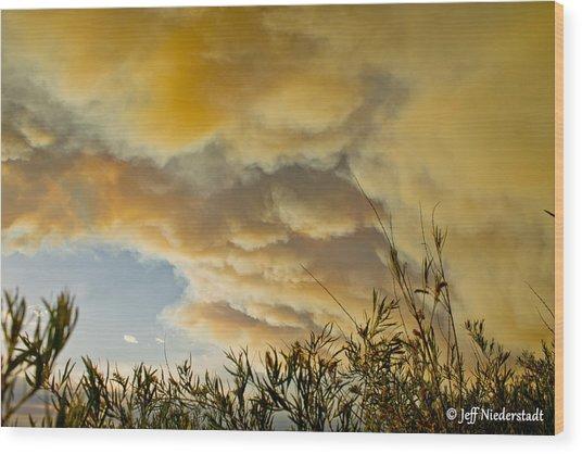 Sky Of Smoke Wood Print