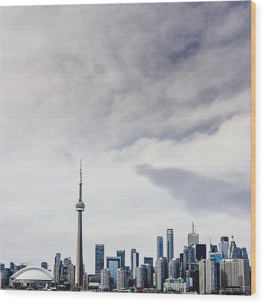 Sky Over City Wood Print by Sven Hartmann / Eyeem