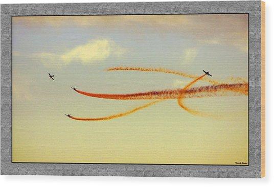 Sky Painters Wood Print