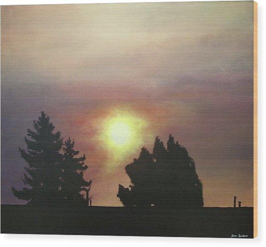 Sky-scape 4 Wood Print by Kim Cyprian