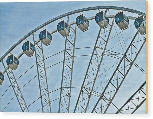 Sky Wheel  Wood Print