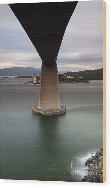Skye Bridge At Sunset Wood Print