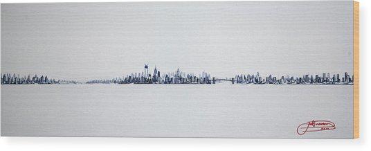 Skyline 10x30-2 Wood Print