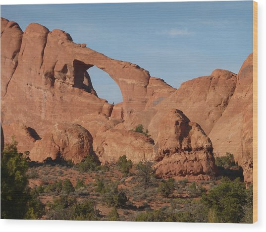 Skyline Arch Wood Print by Susan Rolle