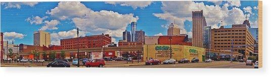 Skyline From The Inside... Detroit Wood Print
