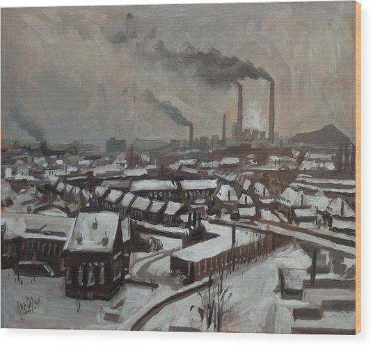 Skyline Heerlen 1972 Wood Print