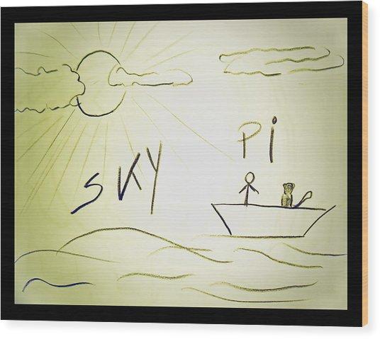 Skype Wood Print by Beto Machado