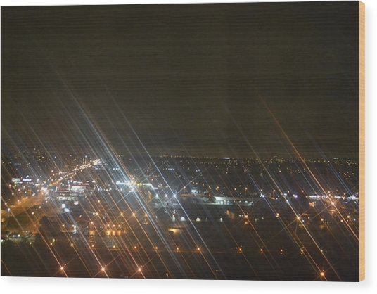 Slanted Light Wood Print by Naomi Berhane